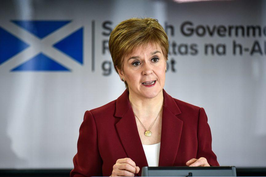 Sturgeon: Wants IndyRef2 early next parliament.