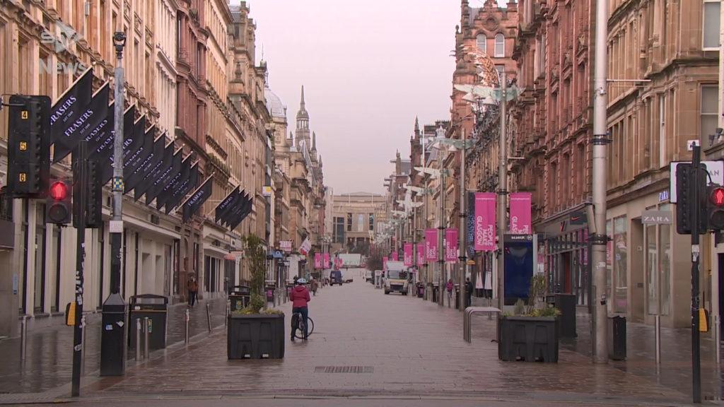 Scotland's streets are empty as a lockdown is enforced to beat coronavirus.