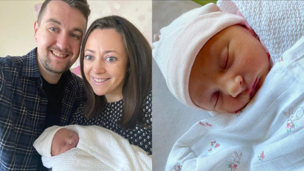 New parents: Colin and Ali Armstrong with baby Isla.
