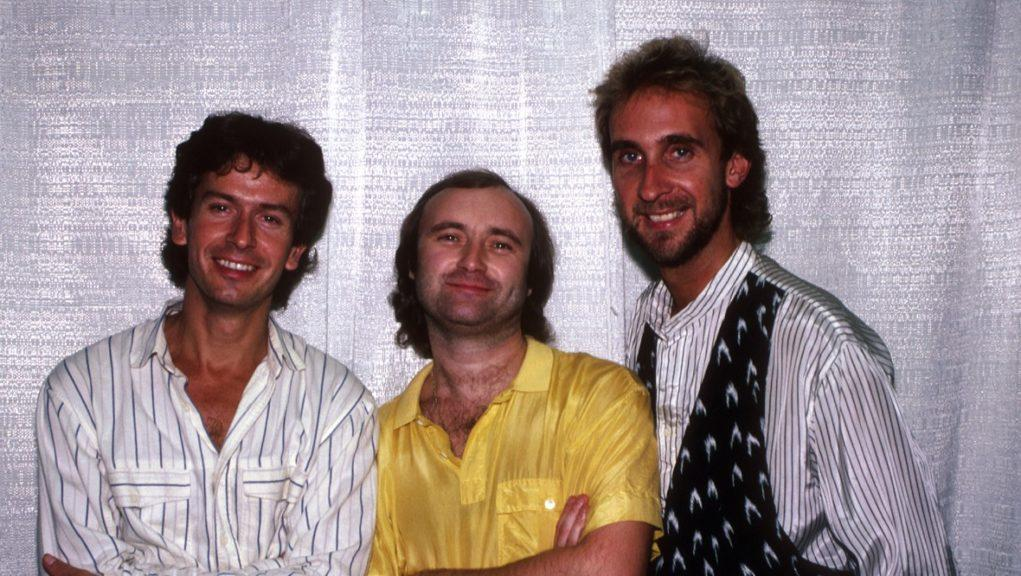 Tony Banks, Phil Collins and Mike Rutherford pictures in October 1986.