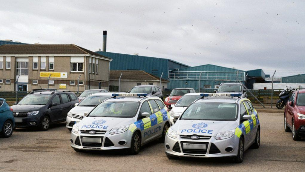 Injury: Emergency services attended the abattoir in Turriff after the alarm was raised.