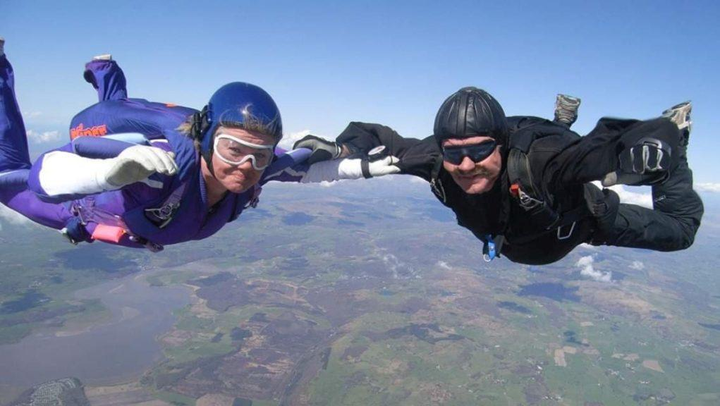 Daredevil: George McGuiness loves to skydive.