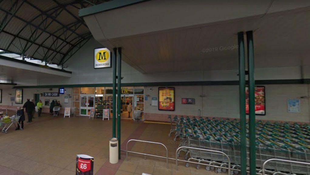 Morrisons: Police were called to the store on Monday night.