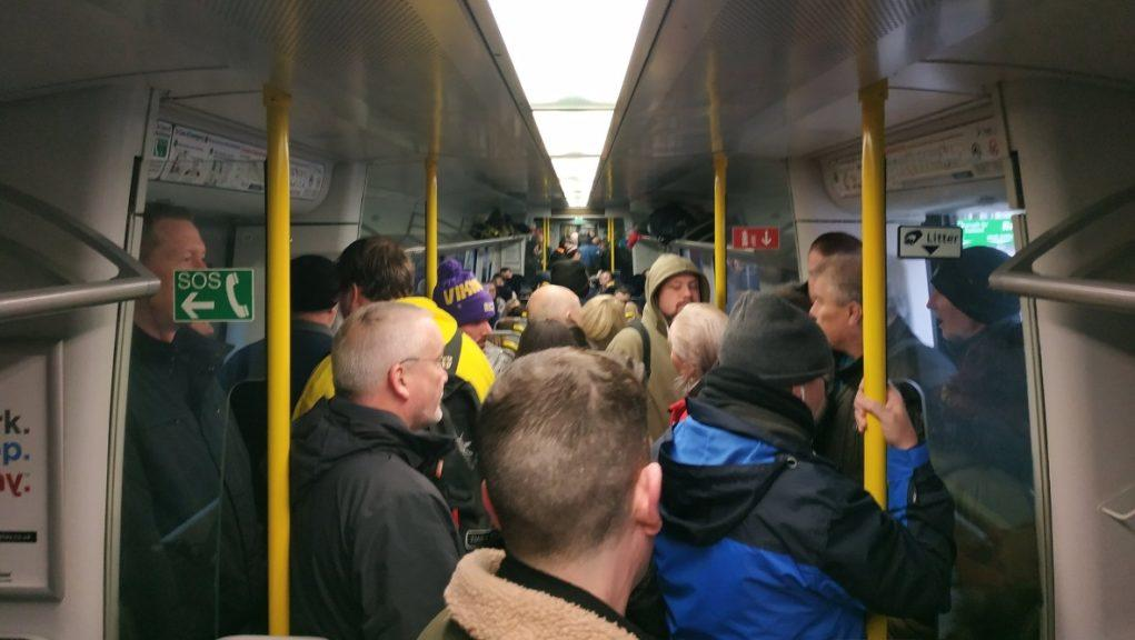 Packed: A service from Paisley to Glasgow Central.