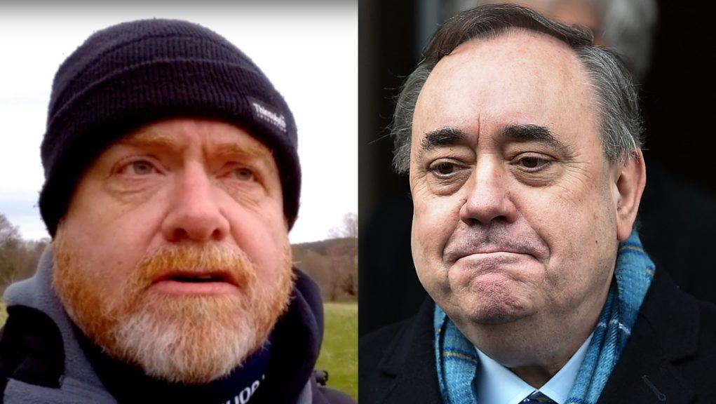 Mark Hirst posted a video on YouTube in the wake of Alex Salmond's acquittal.