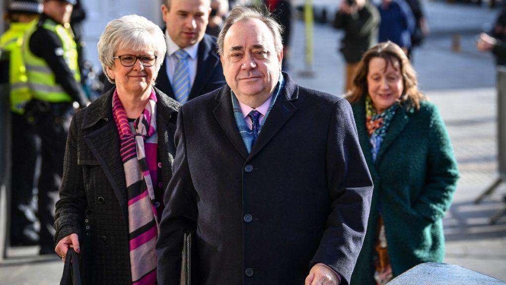 Alex Salmond arrives for the sixth day of his trial.