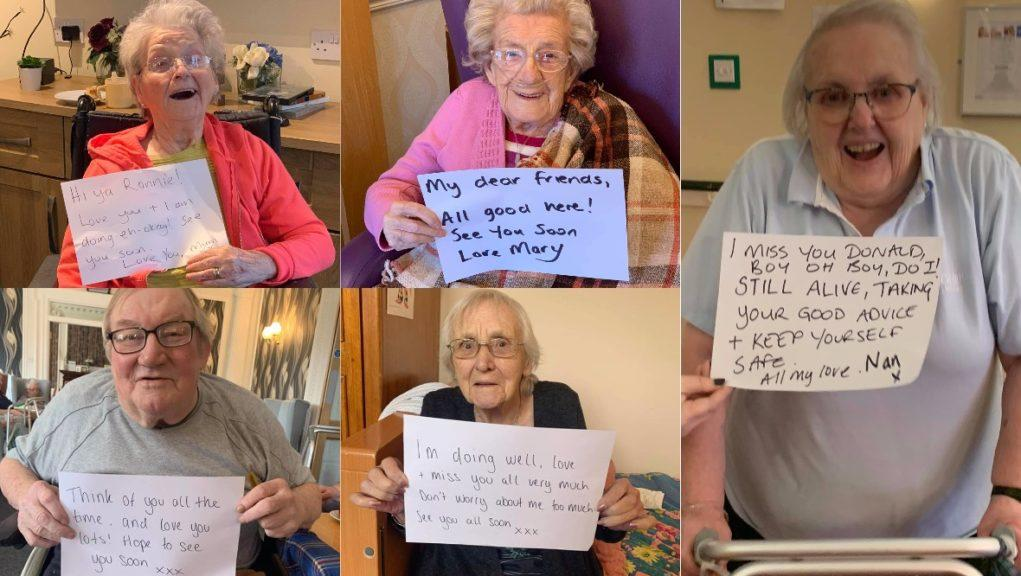 Sharing the love: The residents with messages for their loved ones.