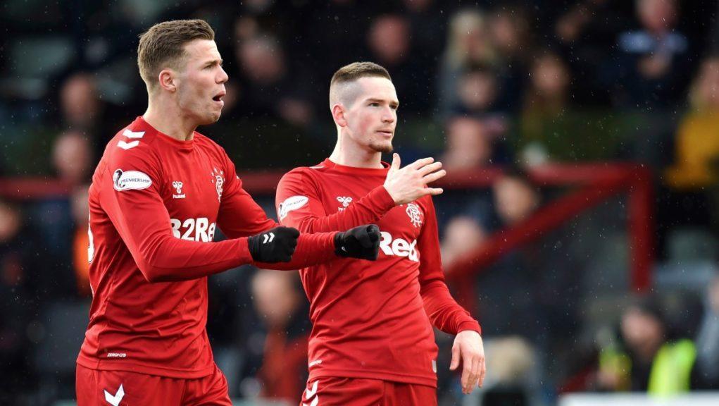 Kent: Winger celebrates winning goal.
