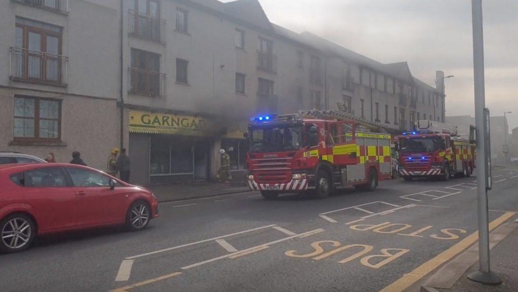 Glasgow: The takeaway shop went up in flames. Picture by Piers Doughty-Brown