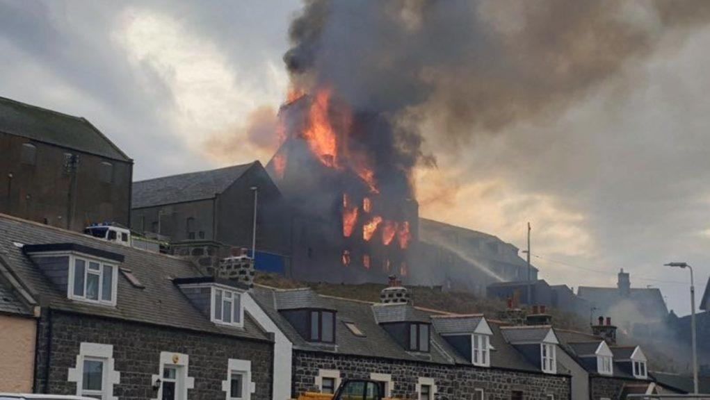 Macduff: Emergency services are working to bring the fire under control.