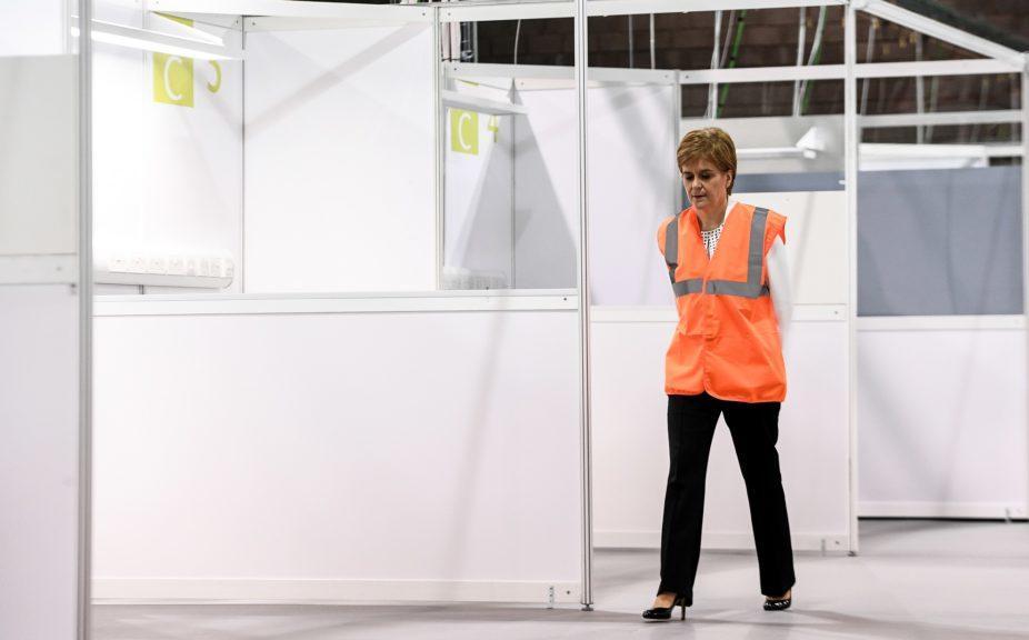 Coronavirus: Nicola Sturgeon inspects temporary NHS Louisa Jordan hospital.