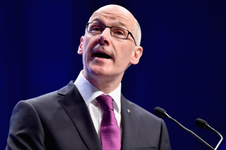 Education secretary: John Swinney said SQA plans to run full exam diet in 2021.