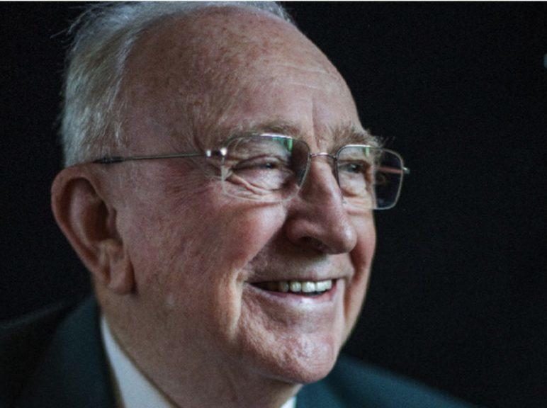 Recognition: Lord Gordon was handed a CBE for services to broadcasting.