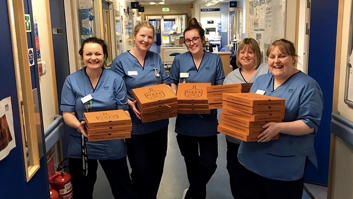 Free pizzas for NHS nurses.
