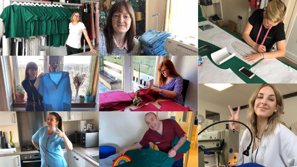 Sewing for key workers on the frontline against Covid-19