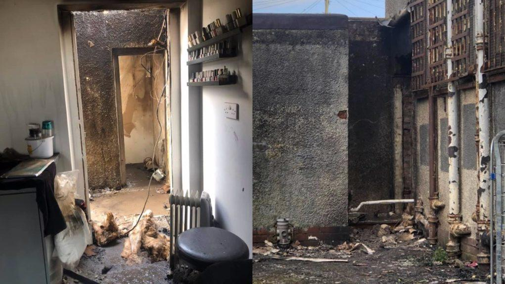 Blaze: The fire destroyed part of the salon.