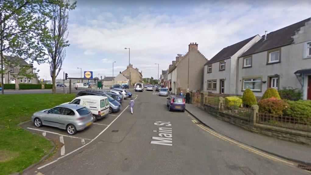 St Ninians: The robber was last seen running along Main Street.