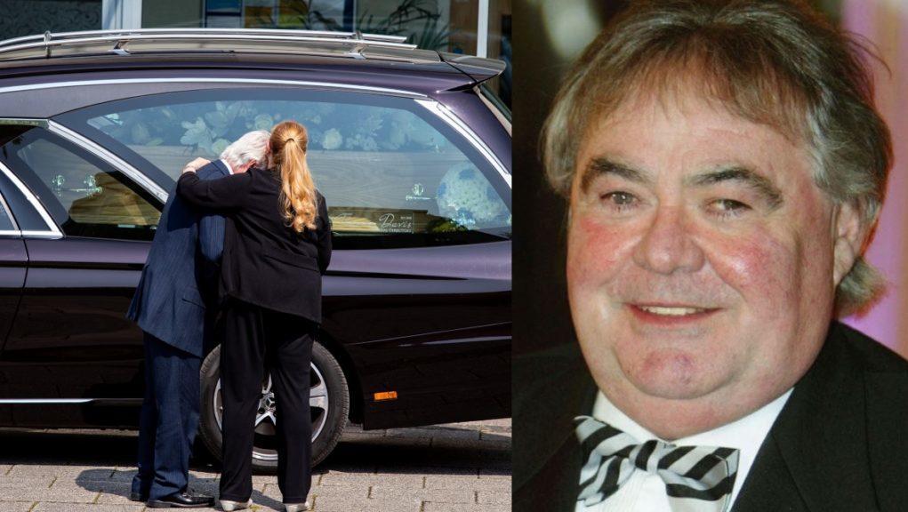 Funeral: Eddie Large died earlier this month.