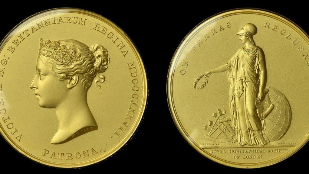 Sold: The Royal Geographical Society Patron's Medal.