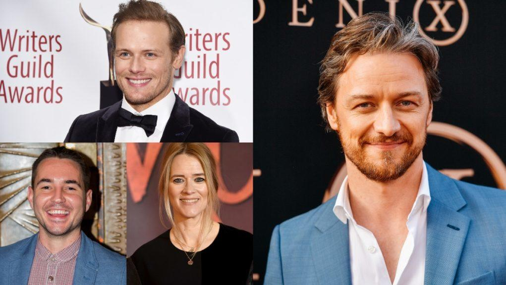 Scots stars: Sam Heughan, Martin Compston, Edith Bowman and Jame McAvoy will come together for an online event.