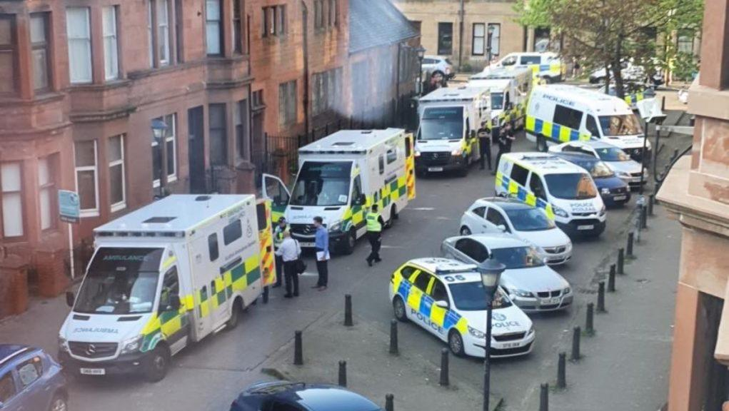 Glasgow: A man is fighting for his life following an incident in Hutton Drive.