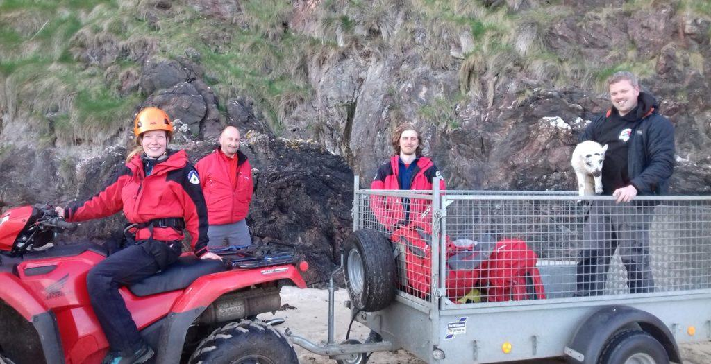 Rescue: Scottish SPCA and Hebrides Mountain Rescue Team.