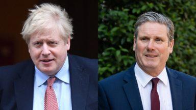 Boris Johnson, Sir Keir Starmer.