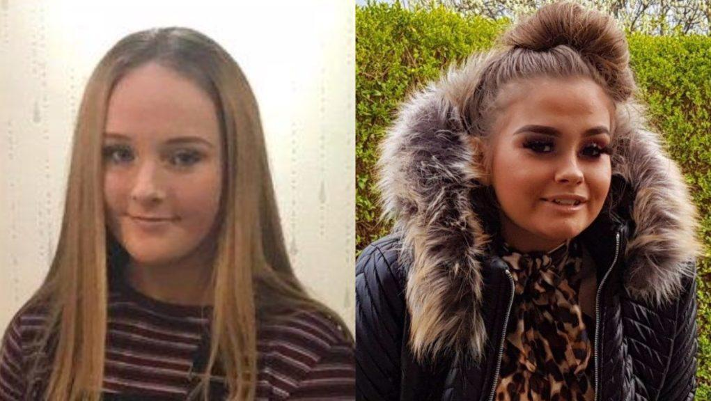 Missing: The teenage girls were last seen on Wednesday.