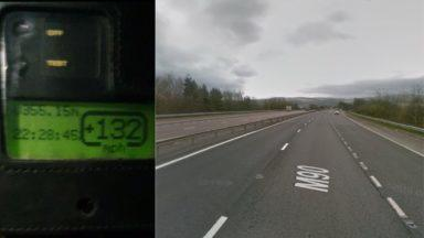 132mph speeding.