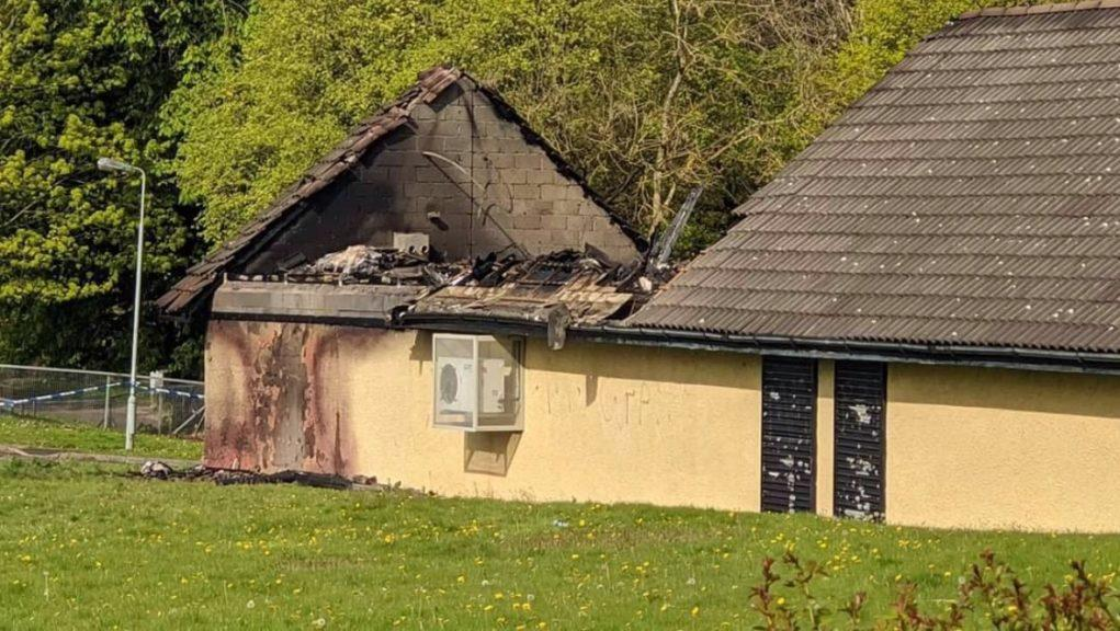 Fire: Daniel Milburn captured images of the aftermath, which were shared by the Livingston - Our Town Facebook page.