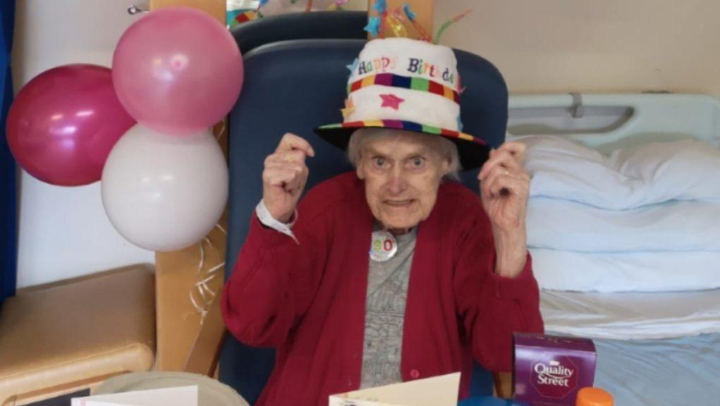 Birthday girl: Agnes Gallacher turned 90.