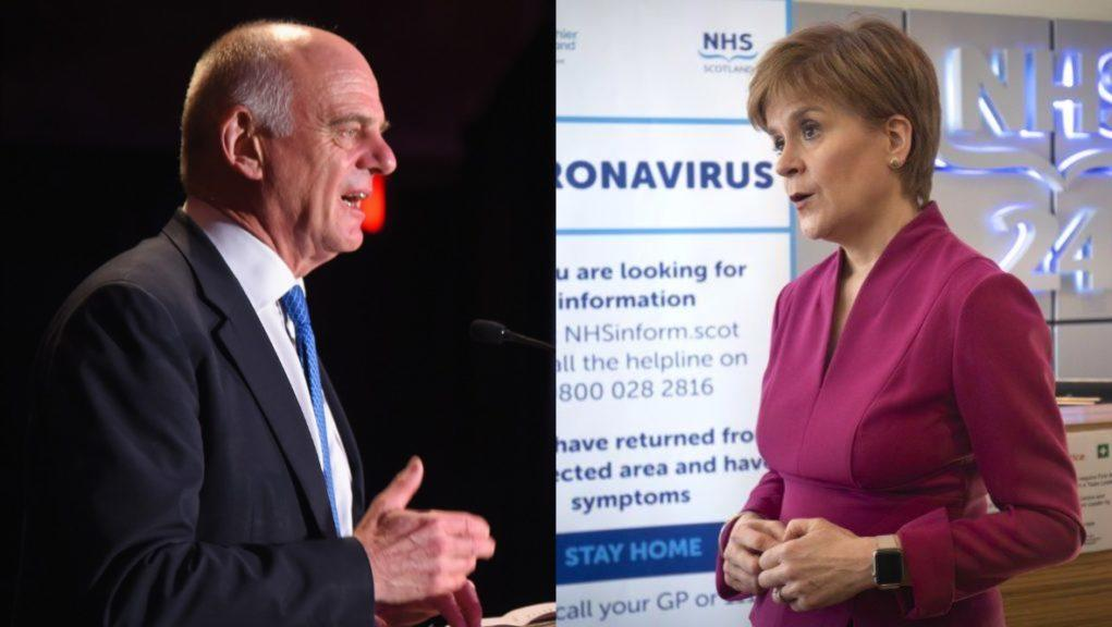 Praise: Dr David Nabarro impressed with Nicola Sturgeon's decision.