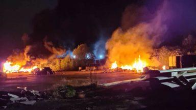Mitchelston Industrial Estate fire.