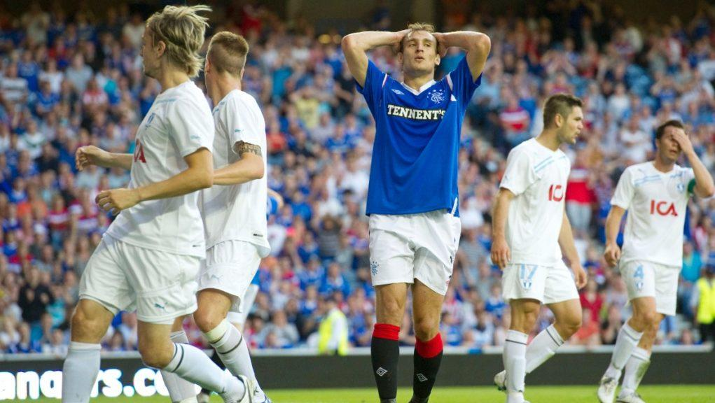 Rangers were knocked out of the 2011/12 Champions League in the qualifying stages by Malmo.
