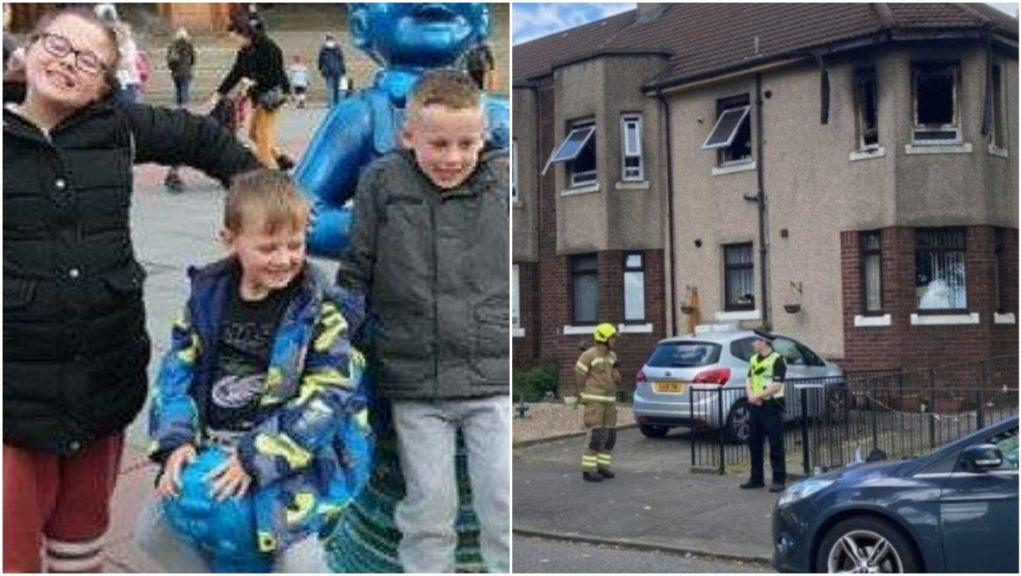 Flat fire: Three children have died.