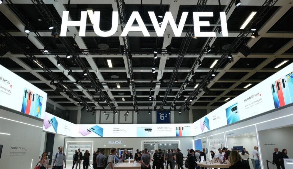 Stripped: Chinese tech giant Huawei.