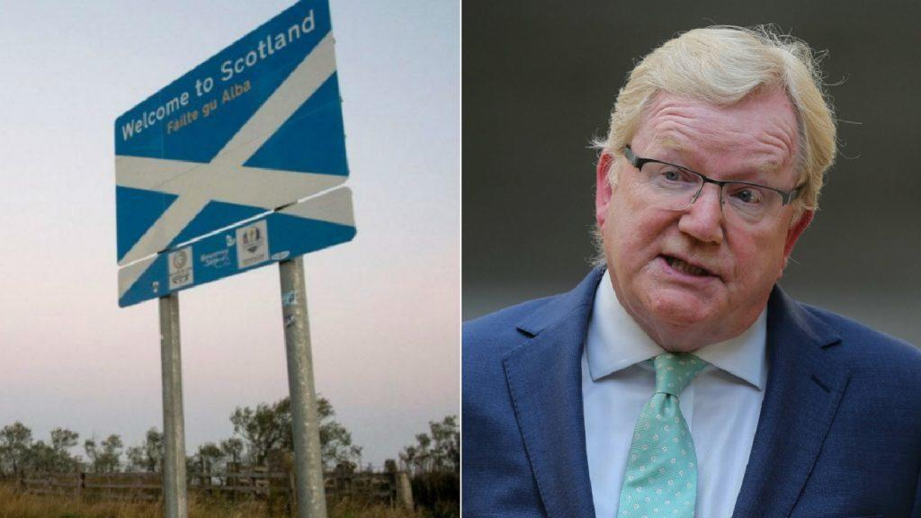 Carlaw: Blasted border protest as a 'disgrace'.
