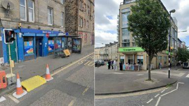 Best One store and Co op store collage Edinburgh, scene of robbery incidents.