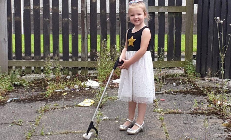 Eco-warrior: Five-year-old Caylie McKenzie.