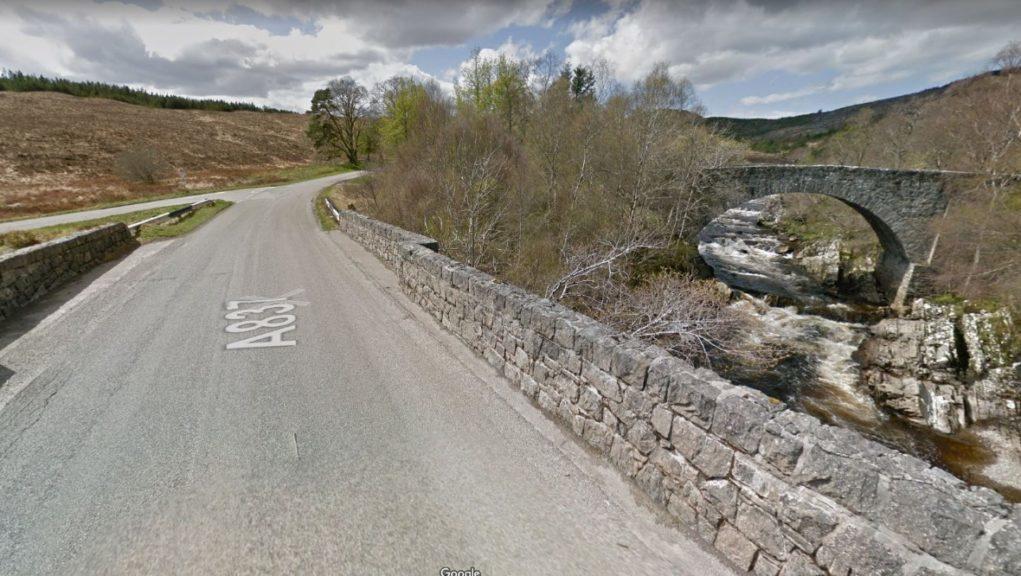 Man died near the Oykel Bailey Bridge in Sutherland.