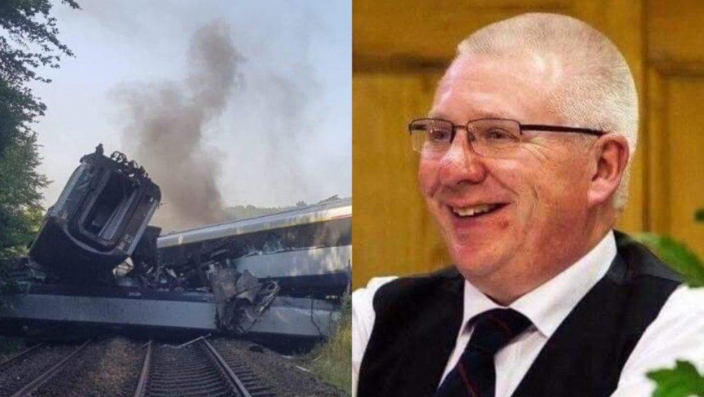 Tribute: Train conductor Donald Dinnie was described as an 'amazing person'.