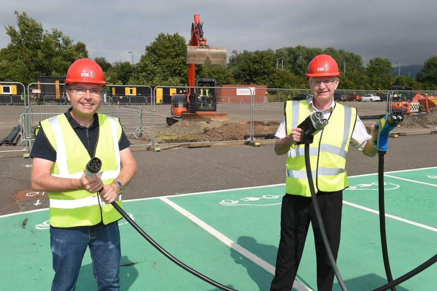 Project: Councillor Danny Gibson (left) and Councillor Jim Thomson (right) on site. Credit: Whyler Photos.