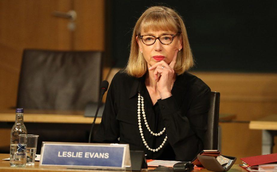 Salmond inquiry: Permanent secretary Leslie Evans at opening session.