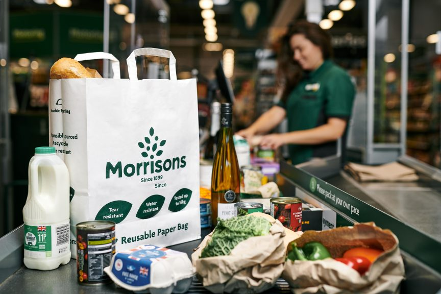 Switch: Plastic 'bags for life' are being replaced with paper bags. Credit: Morrisons