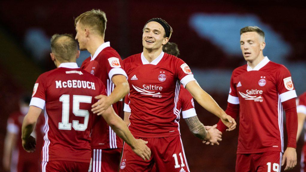 Ryan Hedges hit a hat-trick for Aberdeen.