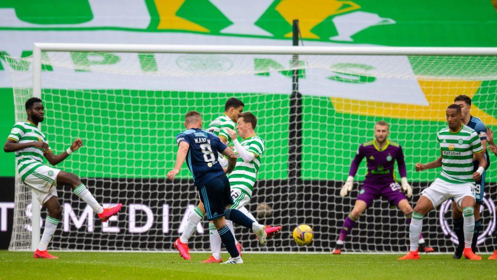 Martin was on the scoresheet as Accies lost to Celtic.