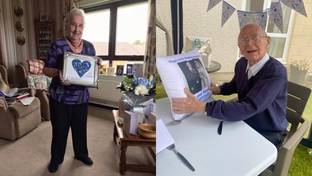 Love: Andy and Margaret Davidson celebrated their 65th wedding anniversary.