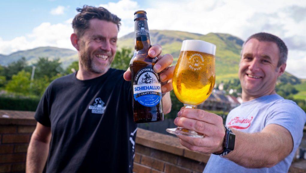 Harviestoun Brewery: Managing directors Stuart Cook and Kevin Giudici.