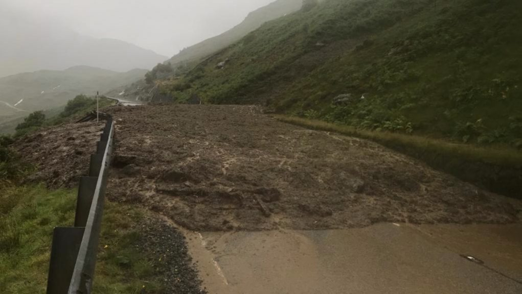 A83: Rest and Be Thankful closed as a precaution.