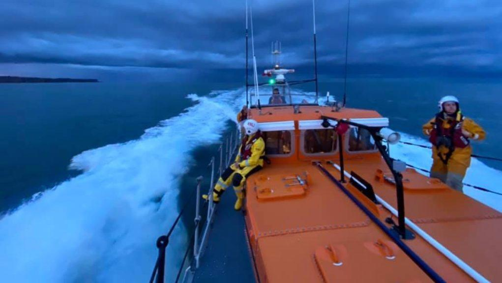 Lifeboat: Emergency services were alerted on Thursday night. Picture by Arbroath RNLI
